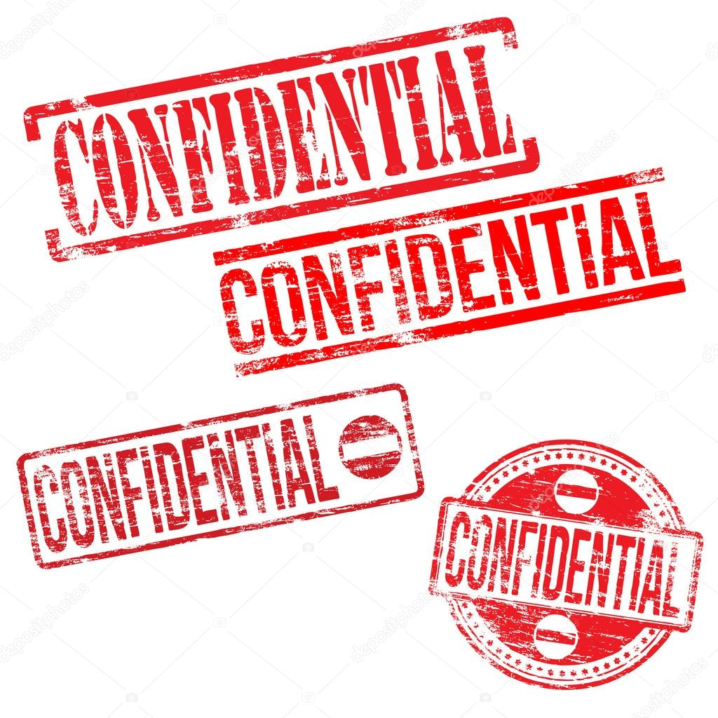 Confidential Stamps Stock Vector