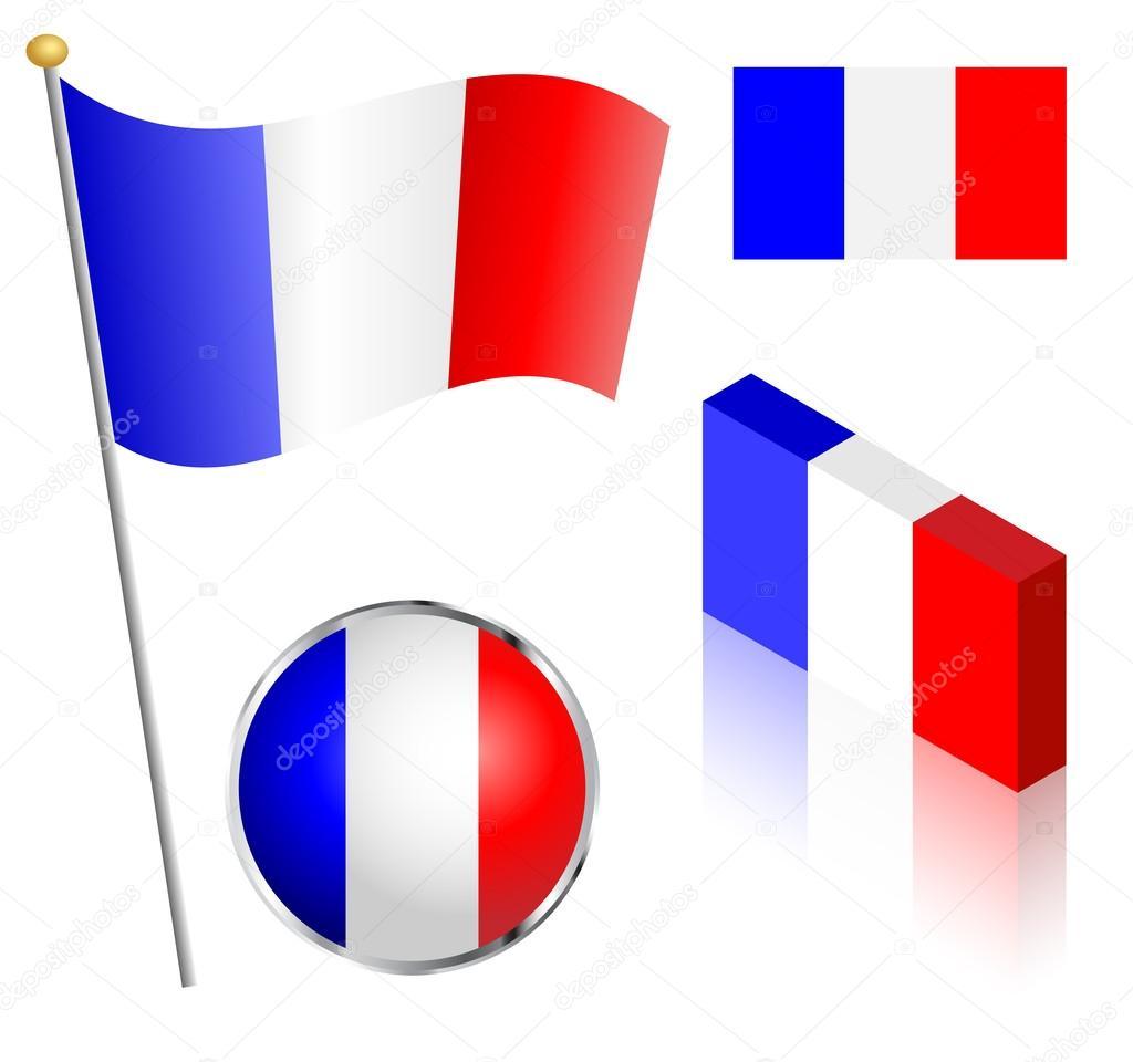 French Flag Set Stock Vector 169 Eyematrix 59012643