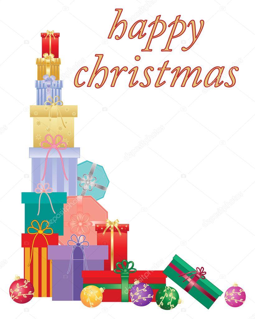 weihnachtsgeschenk-karte — Stockvektor © sandesh1264 #103120148