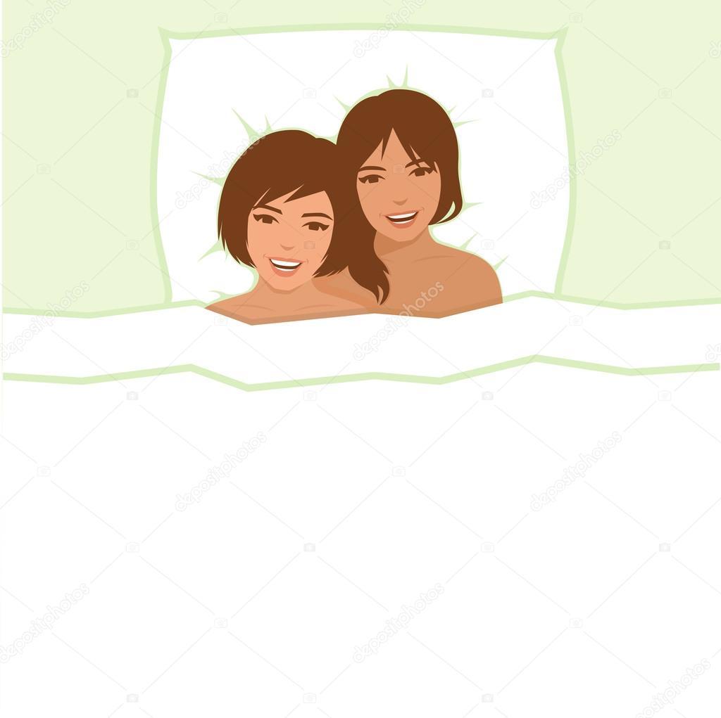 Lesbisk sex säng