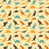 Fotografie Dinosaur retro pattern background