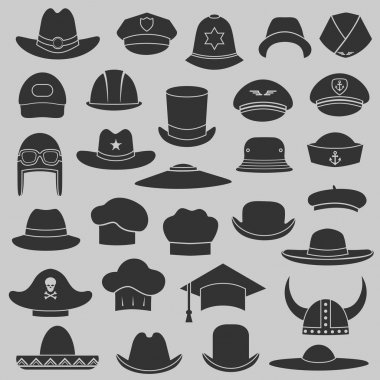 Vector set hat and cap