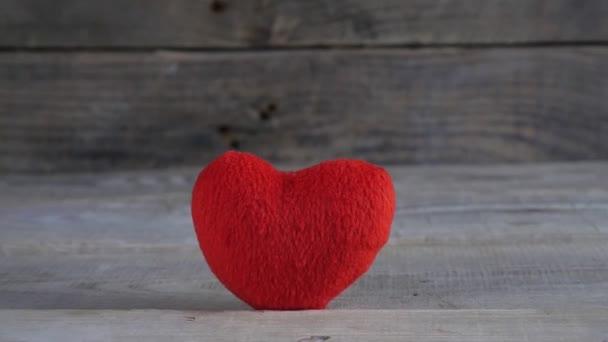 Red heart close up. Happy Valentine. Valentines Day. 4K