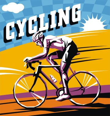 Colorful Bike cycling vector poster