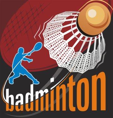 Badminton poster vector