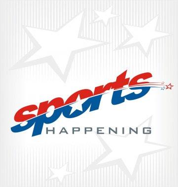 sport text logo vector