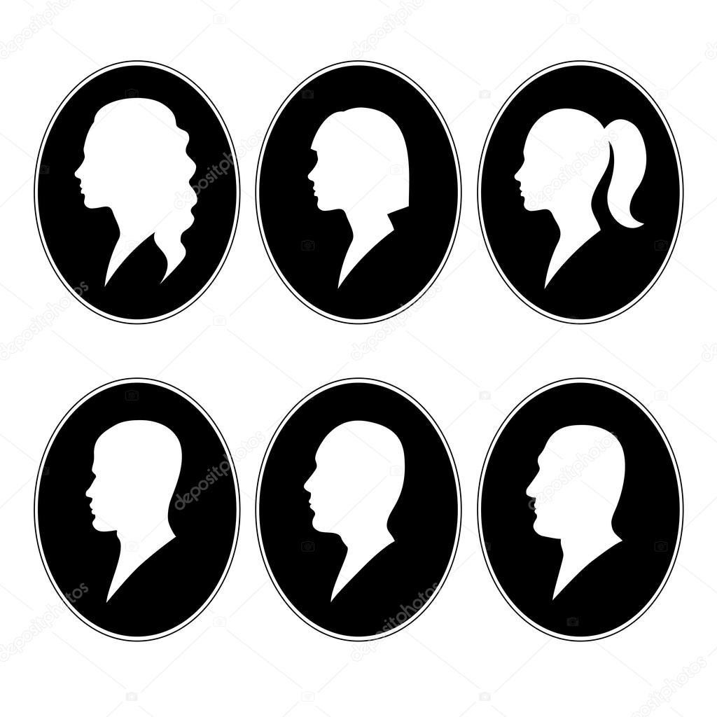 visage de profil blanc sur fond noir image vectorielle innessavv 112705910. Black Bedroom Furniture Sets. Home Design Ideas