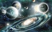 Sluneční soustava a spirální galaxie