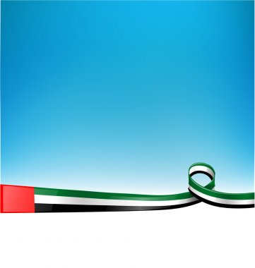 emirates flag on backgroun
