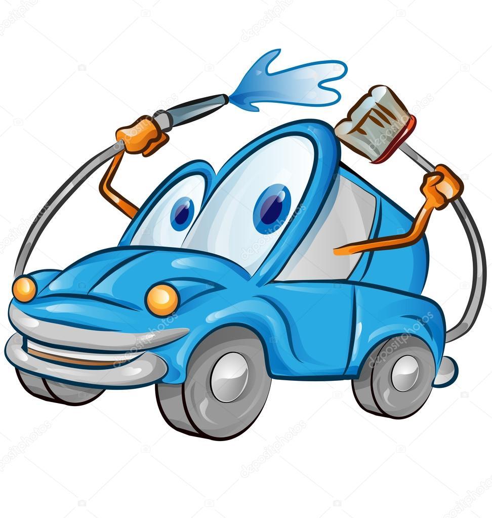 Car Wash Cartoon Drawing