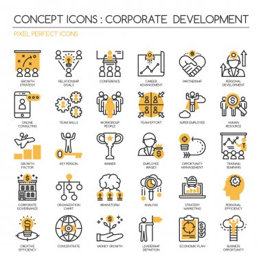 corporate development , thin line icons set ,Pixel Perfect Icons