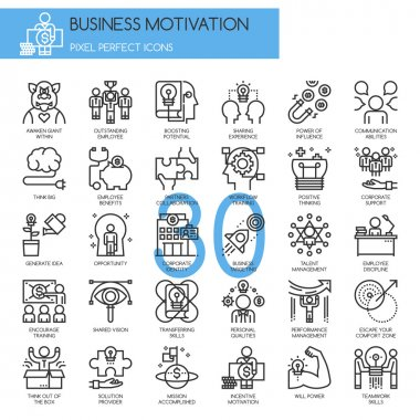 Business motivation icons set