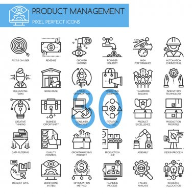Product management  icons set