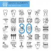 Pixel-Symbole für Zahnärzte