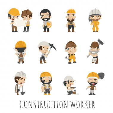 Industrial contractors workers people