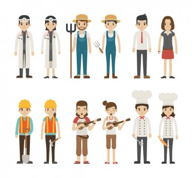 Set of profession characters ,