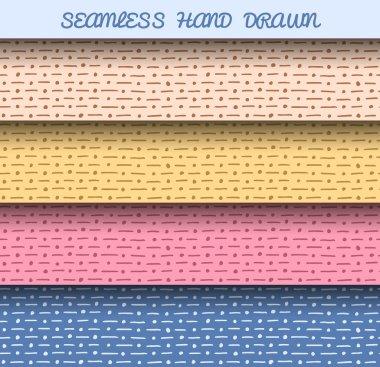 Two seamless hatching patterns.