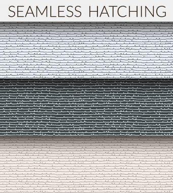 Two seamless hatching patterns.