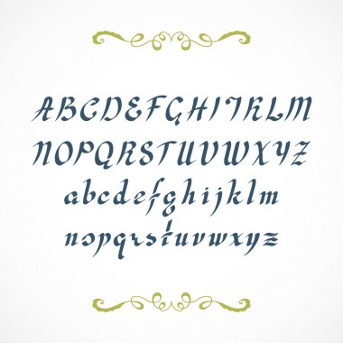 Elegant hand drawn font