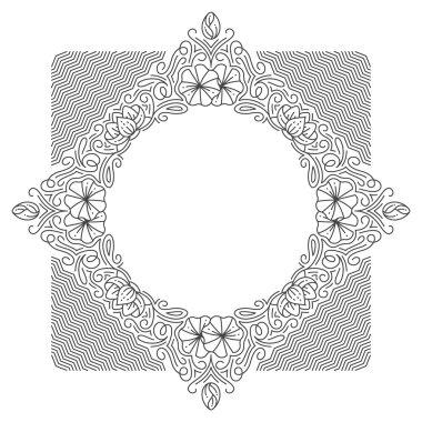 Ornamental line background, monoline style.