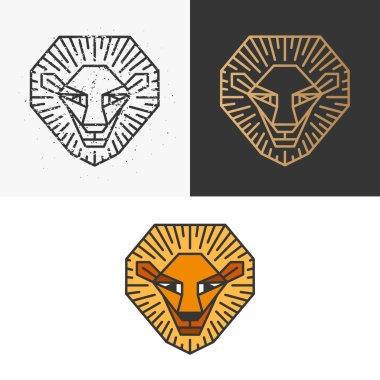Outline lion symbol