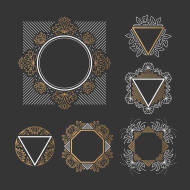 Set of line frames