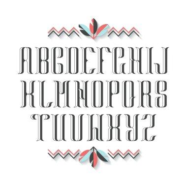 Decorative serif latin font