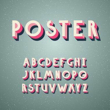 Deco poster typeface