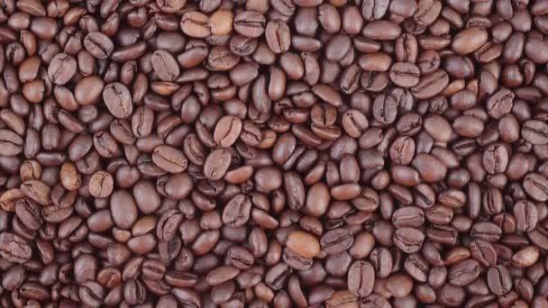 Coffee beans vertical panning video
