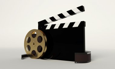 Film and clap board,video icon