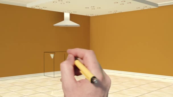 3d animation of kitchen furnishing process