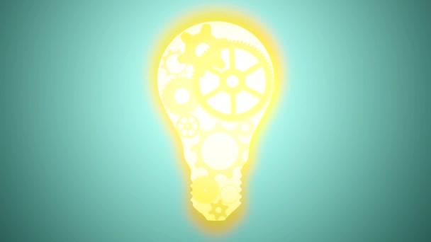 Glühbirne, gemacht von Zahnrädern