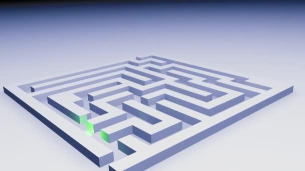 3D animace - modré labyrint vyřešen