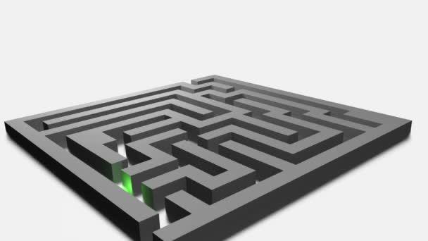 3D animace - šedý labyrint vyřešen