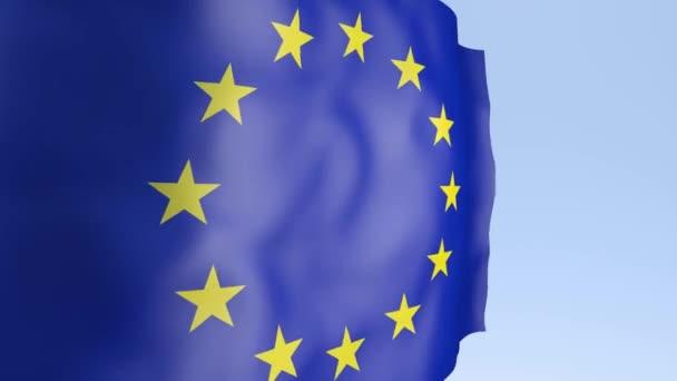 European flag waving