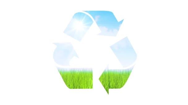 Recycling symbol animation