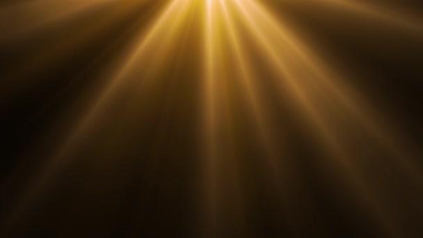 Smyčka animovaných zlatých světel na tmavém pozadí