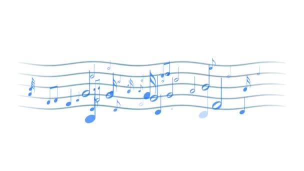 Pentagramma con note musicali
