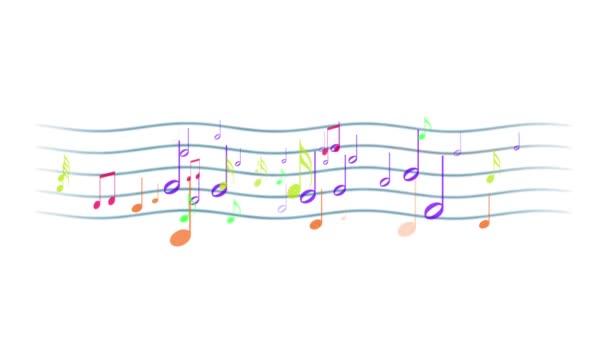 Pentagram s pestrou hudební poznámky