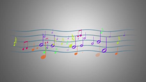 Pentagram színes zenei jegyzetek