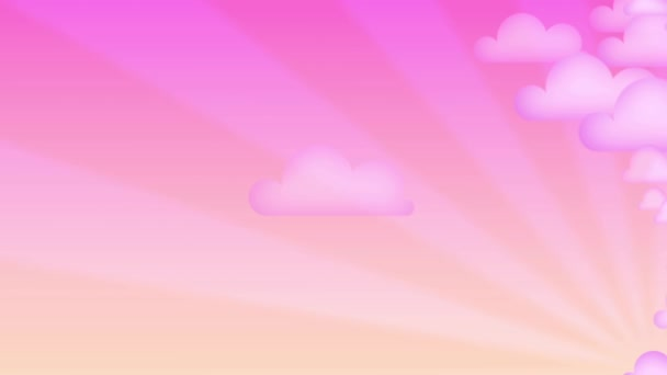 Animation cartoon pink clouds