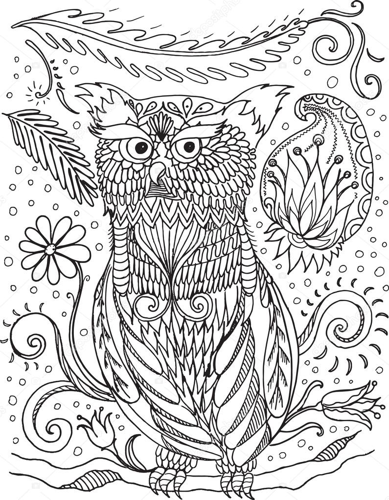Coloring Book For Adult And Older Children Coloring Page With D