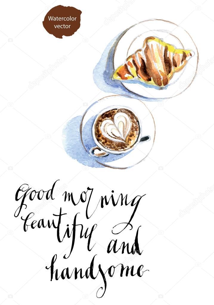 Guten Morgen Schöne Und Schön Stockvektor Mimino 110980188