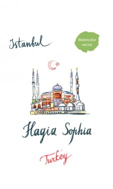 Watercolor of Hagia Sophia