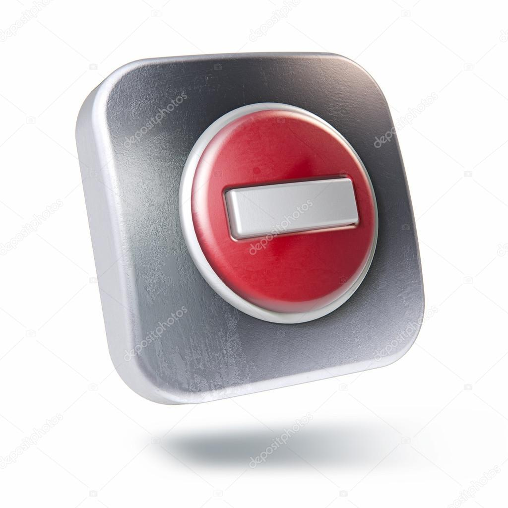 Scratched metallic square icon with no entry symbol isolated o scratched metallic square icon with no entry symbol isolated on white photo by aqyra biocorpaavc