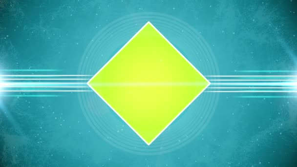Abstract yellow rhombus solid flat animation
