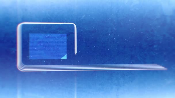 Abstraktní linie obrazce animace s klesající částice na modré