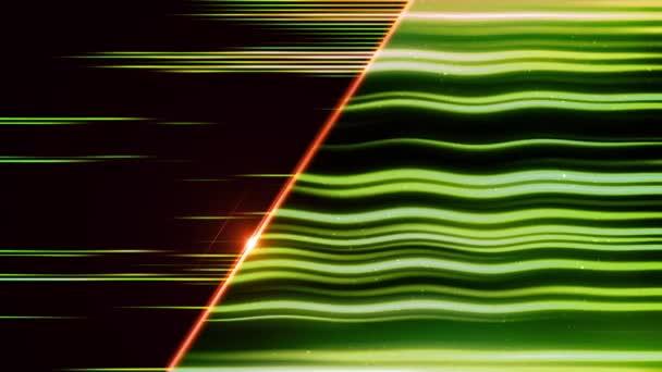 Abstraktní Zelená vlna linky animace