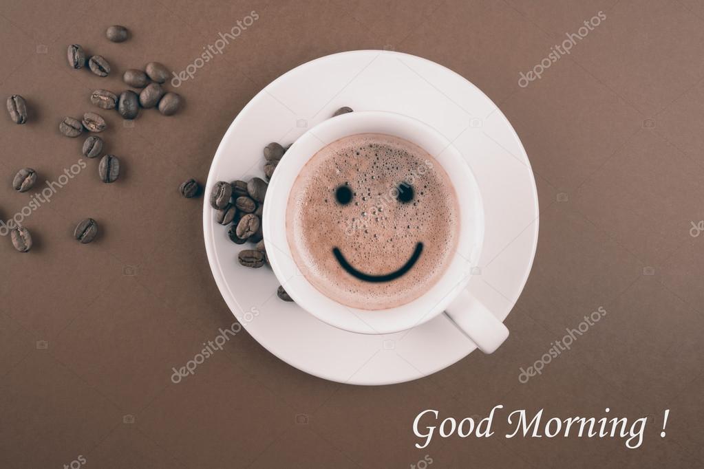 Guten Morgen Kaffeetasse Stockfoto Mario7 100563286