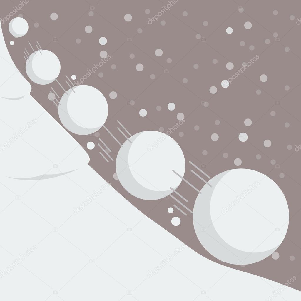 Snowball effect concept